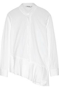 Neil Barrett Ruffled stretch cotton-blend poplin shirt | NET-A-PORTER