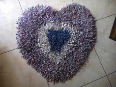 tappeto scendidoccia fatto con la fettuccia
