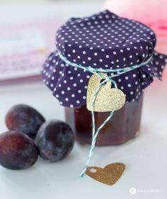 Lebkuchen Pflaumenmarmelade mit Schokolade - Geschenkideen aus der Küche