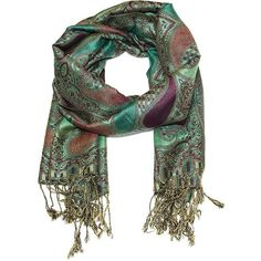 Paisley paradise luxury pashmina wrap scarf in winter splendor (25 AUD) ❤ liked on Polyvore featuring accessories, scarves, woven scarves, wrap scarves, print scarves, paisley shawl and paisley scarves