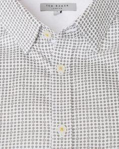e4562ca52 Geo print short sleeved shirt - White