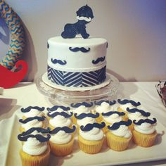mustache shower | Mustache Baby Shower Cake by SugarMommie | Cake Decorating Ideas