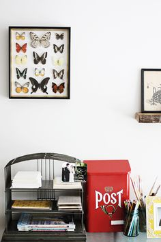love the butterflies - you really must go check out this house - so pretty - love the white = light!