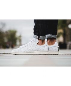 new arrivals 2185a 9a15b Adidas Original Cork Sole Blanche Noir Simple color but did not lose  elegance, it is · Stan smith ...