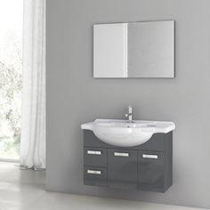 Phinex 34 Single Bathroom Vanity Set with Mirror with Price : $ 1669.99