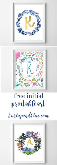 love free printable art sharing over 10 free initial printables perfect for nurseries - Printable Art For Kids