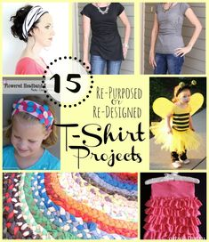 15 t-shirt projects.  I love upcycling!