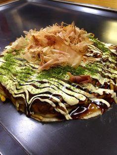 Modern-Yaki, a type of Okonomiyaki. #Japan #Food