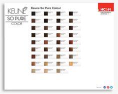 keune so pure color shades - Keune Color Swatch Book