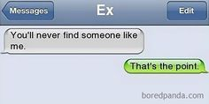 45+ Of The Most Brutal Responses To Ex Texts