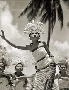 """Young Balinese Djanger Dancer Performs"" Silver gelatin print 1939"