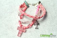 Easy Tutorial on How to Make a Pink Braided Bead Bracelet with Suede Cord - Pandahall.com
