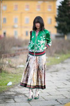 Pin for Later: Les Meilleurs Looks Street Style de la Fashion Week de Milan Jour 1 Margaret Zhang.