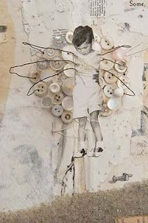 Lisa Kokin. Love her work, mixing sewing with photos and found objects.