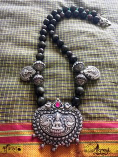 Fantastic jewelry by Soumeiran : Two different motifs of Mahalakshmi in one piece!