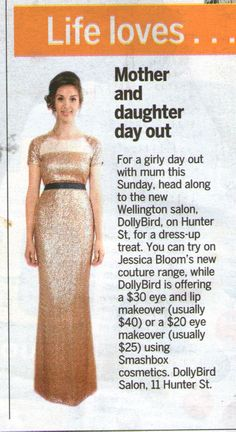 The Dominion Post - Life Magazine Wednesday, May 8 2013 Mother's Day Event at Dollybird