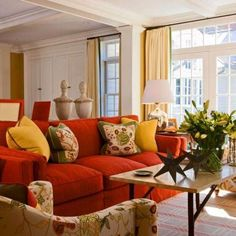 19 Best Red decor images   Red couch living room, Living