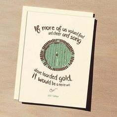 Gandalf Birthday Card Lord of the Rings The Hobbitlove this