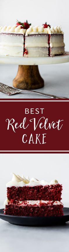 BEST Red Velvet Layer Cake recipe! Learn exactly how to make it on sallysbakingaddiction.com