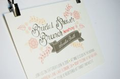 Bridal Shower Brunch Coral Yellow Floral Bohemian Bridal Shower Invitation