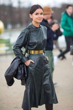 Miroslava Duma during Paris Fashion Week, Fall 2014