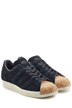 ADIDAS ORIGINALS Superstar Suede and Cork Sneakers. #adidasoriginals #shoes #