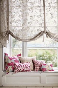 Tulipa-Pink_Romo -sheer curtains for large window Chic Bedroom, Interior Design, Curtains, Home, Interior, Interior Design Curtains, Curtains With Blinds, Home Decor, Trendy Bedroom