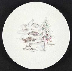 Hutschenreuther at Replacements, Ltd Ski Chalet Decor, China Dinnerware, Yule, White Christmas, Decorative Plates, Crystals, Tableware, Pattern, Mountain