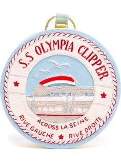 OLYMPIA LE-TAN S.S Olympia Clipper Felt Clutch