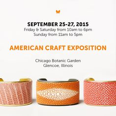 Live in the #Chicago area? Grab a friend this weekend & head to #TheAmericanCraftExposition at the @chicagobotanic.