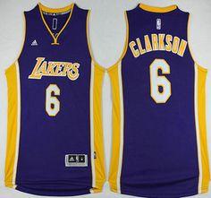 Los Angeles Lakers Jersey 6 Jordan Clarkson Revolution 30 Swingman Yellow Jerseys