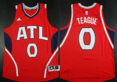 Atlanta Hawks #0 Jeff Teague Revolution 30 Swingman 2014 New Red Jersey
