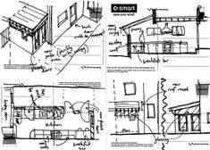 """Simba: Visual Journals in architecture are in actual fact, """"tools"""". The backtalk in which these journal entries give to the person sketching them, helps to create a path to the final design. Simple scribbles and geometric lines to which can be transferred to an electronic version."""