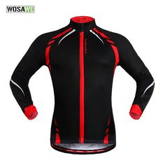4441ba3be Wolfbike Thermal Fleece Cycling Jersey Shirt Biking Jacket Long Sleeve