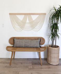 Diy Hanging, Hanging Wall Art, Yarn Wall Art, Macrame Art, Inspirational Wall Art, Art Installation, Textiles, Home Textile, Fiber Art
