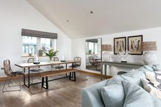 Bentley Sands, Mawgan Porth, Cornwall, self-catering holidays with Beach Retreats Flat Interior, Interior Design, Sands, Cornwall, Dining Bench, Building A House, New Homes, House Ideas, Home And Garden