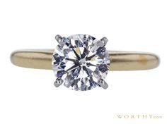 GIA 1.59 CT Round Cut Solitaire Ring Sold at Auction for $4,759