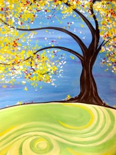 wine and canvas painting ideas Diy Painting, Painting & Drawing, Tree Of Life Painting, Diy Canvas, Canvas Art, Canvas Ideas, Wine And Canvas, Easy Paintings, Tree Art