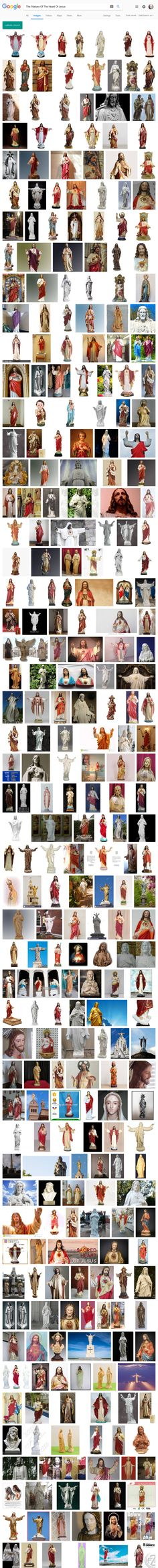 Screenshot: The Statues Of The Heart Of Jesus - Google Search Heart Of Jesus, Statues, Blessed, Peace, Google Search, Effigy, Sobriety, World