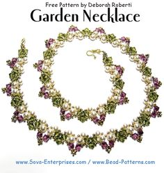 FREE NECKLACE PATTERN at Sova-Enterprises.com