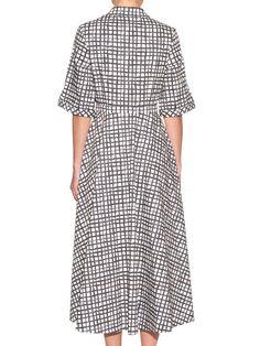 Natalie Criss-Cross print shirtdress | Saloni | MATCHESFASHION.COM UK