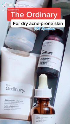 Skin Tips, Skin Care Tips, Dry Acne Prone Skin, Haut Routine, The Ordinary Skincare Routine, Nighttime Skincare Routine, Skin Care Routine Steps, Skin Routine, Moisturizer For Oily Skin