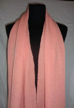 Peach Pink Long Scarf  Icelandic Production by HuldaGK on Etsy