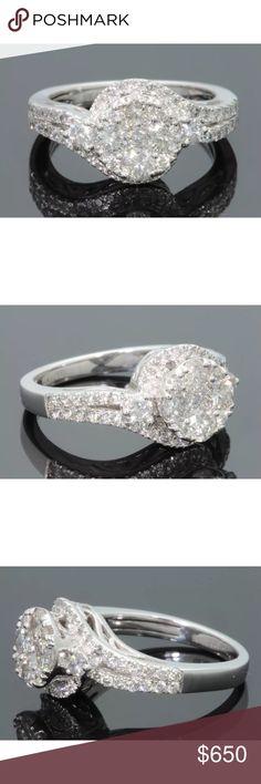 Gorgeous 1.5 carat 10k white gold diamond ring Gorgeous 1.5 carat 10k white gold diamond ring Jewelry Rings