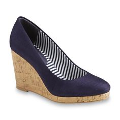 Covington Isle Navy Wedge at Sears $16.99, with thanks to Josephine on the WKW Facebook page for the tip!