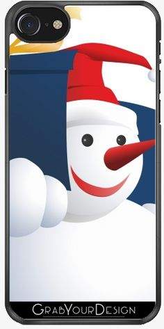 GrabYourDesign  Case for Iphone 7/8 Giving Snowman  by pASob
