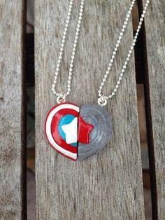 Captain America/Bucky Winter Soldier Friendship Necklaces