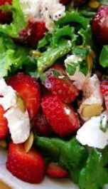 Strawberry Balsamic Dressing with Fresh Mozzarella Salad