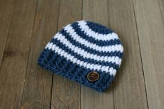Newborn Crochet Hat Baby Boy Hat Newborn by TangledSkeinsCo