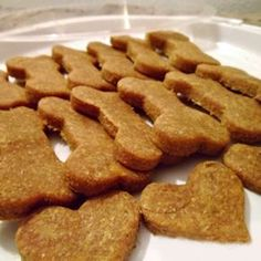 A doglicious recipe for soft homemade peanut butter dog treats. Super quick & easy consisting of only 3 ingredients and takes only 10 minutes to bake!